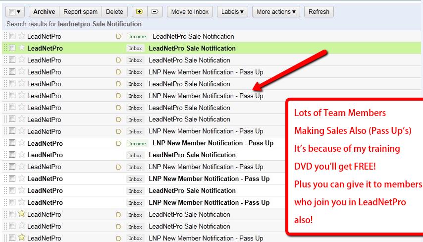 leadnetpro sales proof