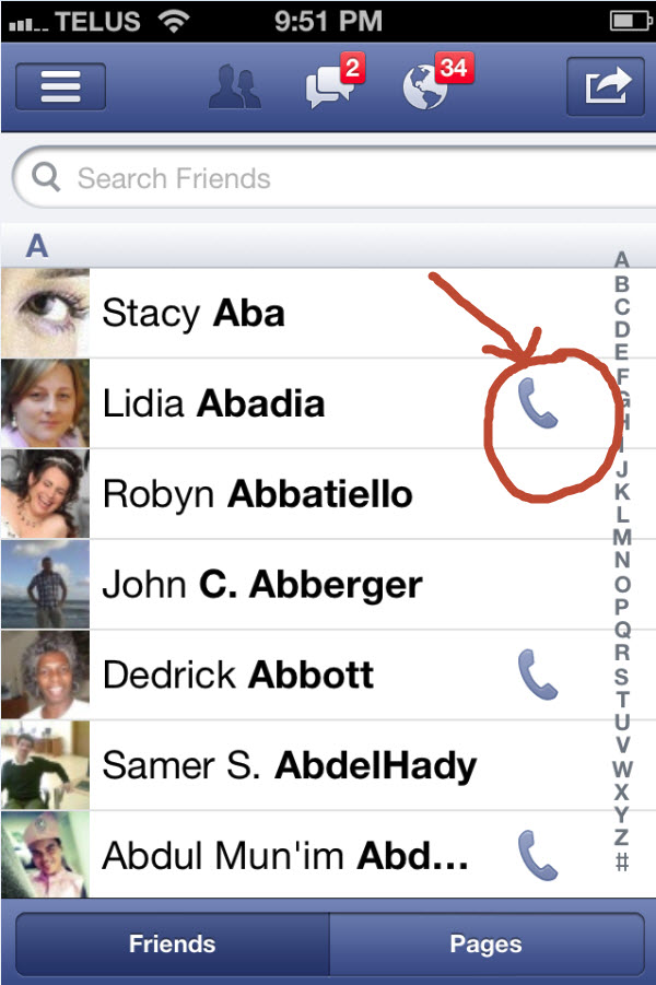 facebook iphone sync3 How To Get Facebook Contact Sync on iphone‏